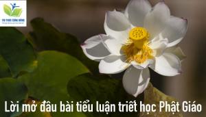 Tiểu luận triết học Phật giáo - Lời mở đầu, đề cương và kết luận