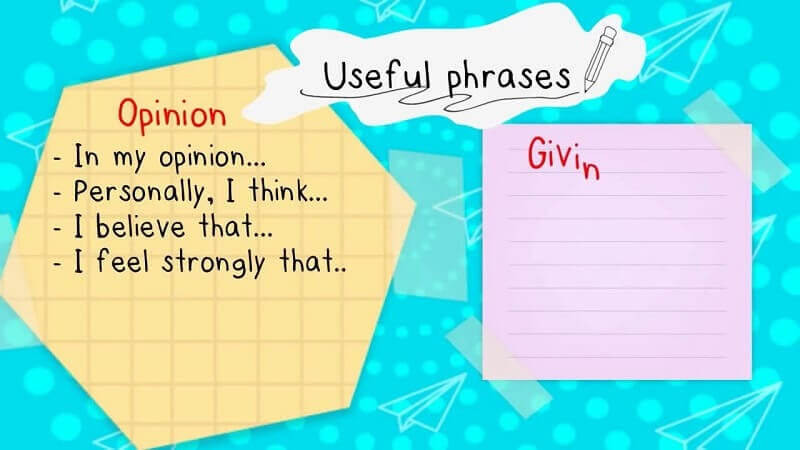 Cấu trúc cơ bản cho một bài Opinion essay