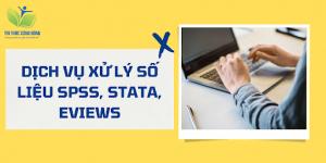 Dịch vụ xử lý số liệu SPSS, hỗ trợ SPSS, Stata, Eviews số 1 VN