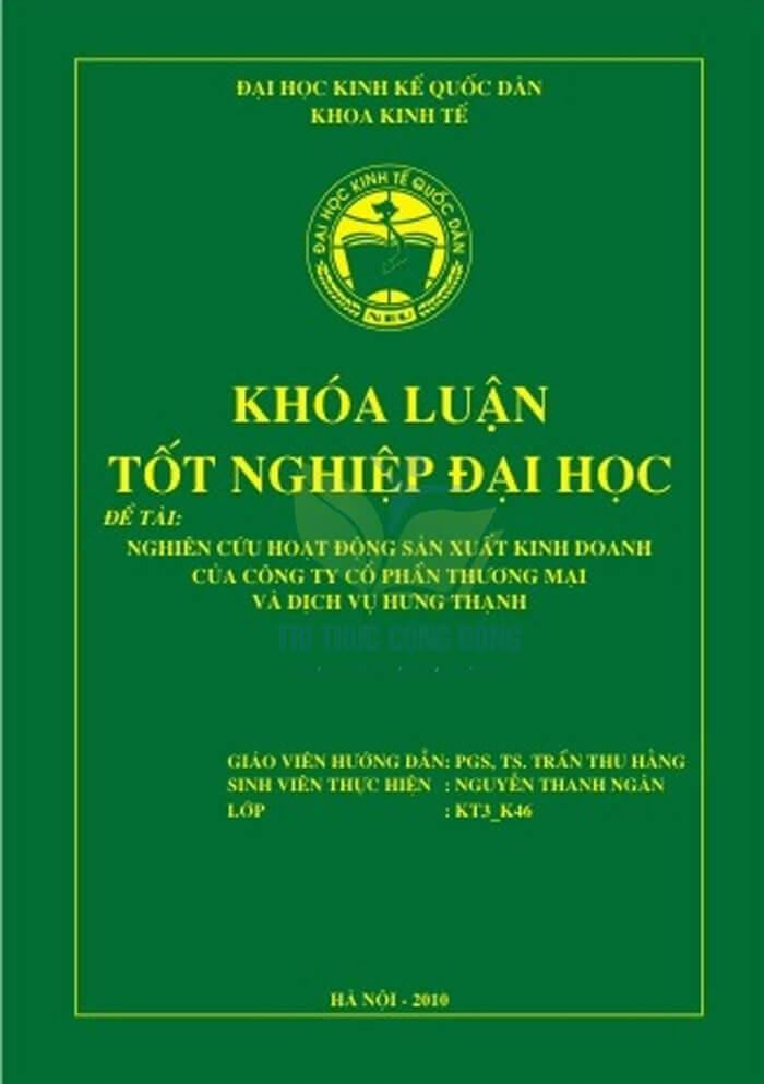 Mẫu trang bìa khóa luận tốt nghiệp NEU