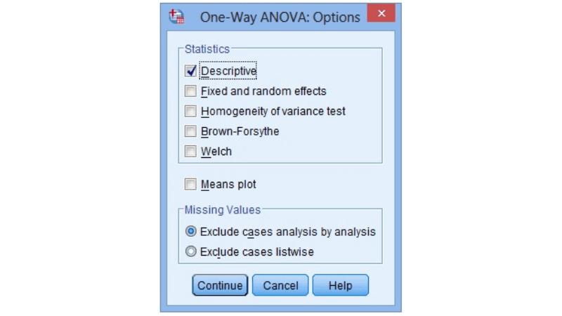 Cửa sổ tùy chọn Options