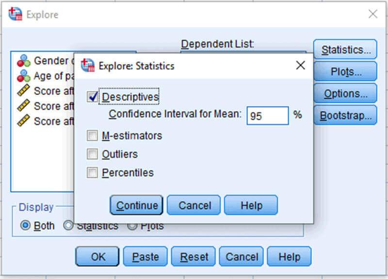 Thực hiện thống kê mô tả trong SPSS