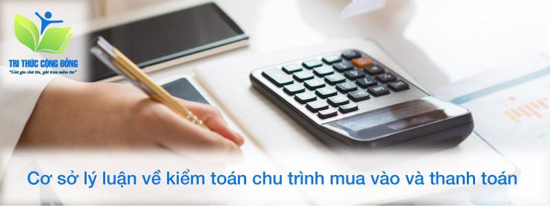 Cơ sở lý luận về kiểm toán chu trình mua vào và thanh toán