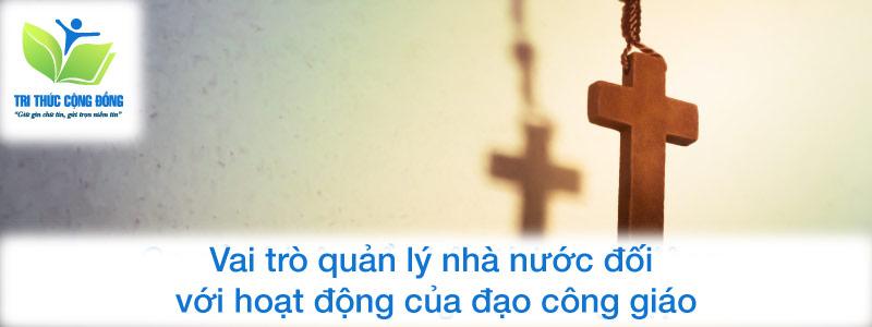 Vai trò quản lý nhà nước đối với hoạt động của đạo công giáo