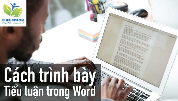 Cách trình bày tiểu luận trong Word