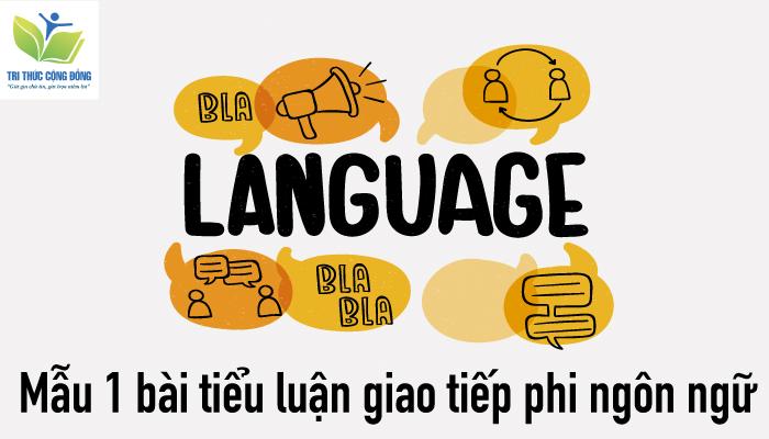 Mẫu 1 bài tiểu luận giao tiếp phi ngôn ngữ